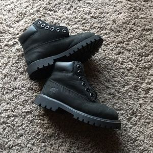 Boys black timberland boots toddler size 9
